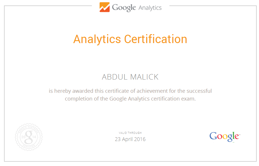 Google Analytics And Adwords Certification